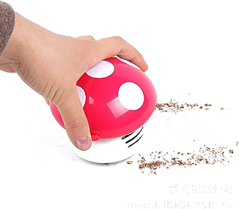 Angelduck Desk Vacuum Cleaner, Portable Mini Cute Mushroom Shaped Dust Sweeper (Pink)
