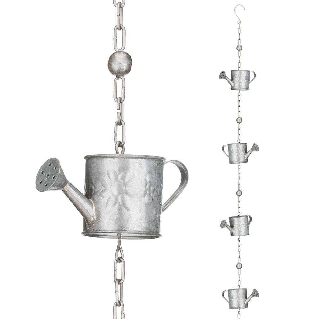 Regal Art & Gift 4 Inches x 2 Inches x 100 Inches Rain Chain Watering Can Garden Decor