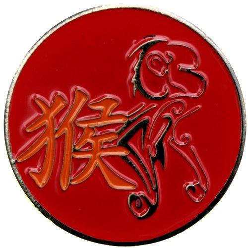 Chinese Zodiac Monkey Golf Ball Marker with Chinese Zodiac Hat Clip -