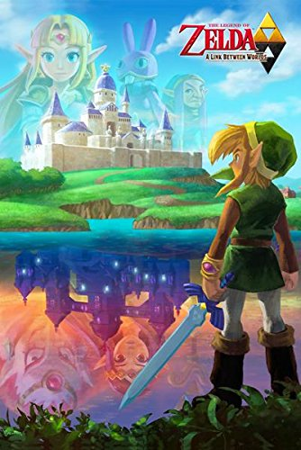 Zelda A Link Between Worlds Video Gaming Poster 24x36