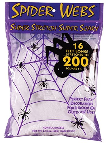 Halloween Decorations - Fun World Costumes Super Stretch Spider Web