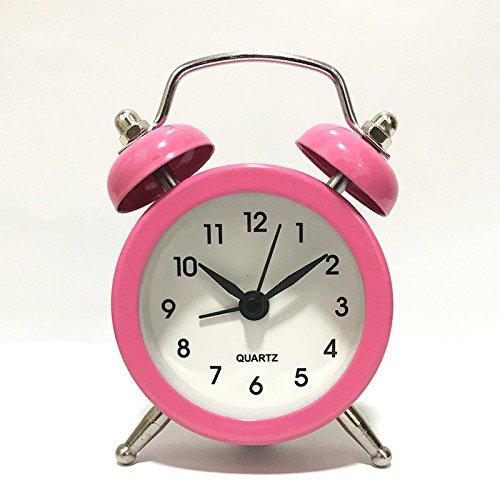 HuaQingPiJu-JP Réveils Exquis Mini réveil réveil réveil Silencieux créatif pour Les  s  s étudiants (Rose)   L'apparence élégante  2a1b22