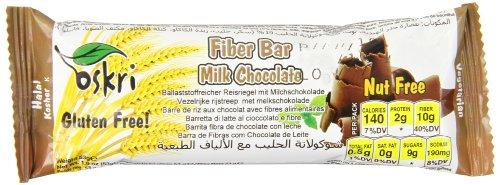 Oskri Fiber Milk Chocolate Bar, 20 Count (Pack of 20)