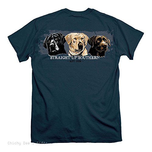 Top Straight Up Southern Short Sleeve Tee THREE LABS LABRADOR RETRIEVER dog supplier