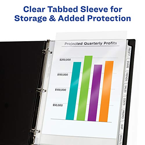 picture regarding Printable Tab Paper known as Avery 8-Tab Sheet Protectors Dividers, Printable Basic Peel