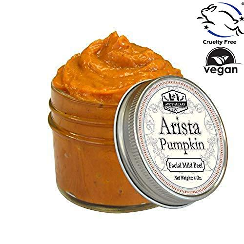 4 fl. Oz Arista Pumpkin Enzyme Mask - Deep Exfoliation, Clarifying and leaves skin Brightened, Replenished and Renewed, Excellent Brightening face mask, glycolic acid peel/pumpkin face mask
