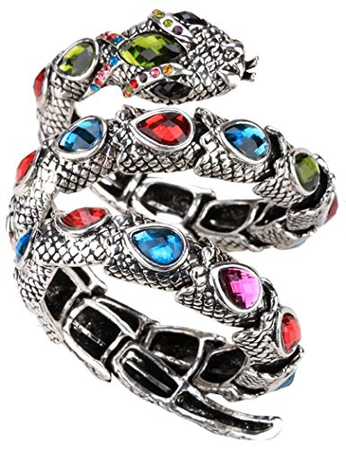 YACQ Jewelry Women's Crystal Stretch Snake Bracelet for Women Halloween Costume Outfit ()