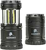 LED Camping Lantern - Brightest LED Lantern - Camping Lantern for Hiking, Emergencies, Hurricanes, Outages, Storms - Multi Purpose - Gray - Alaskanite