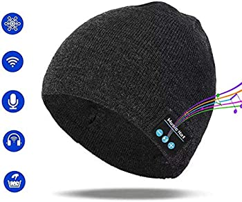 Pardecor Wireless Bluetooth Beanie Hat with V5.0 Headphones Headset
