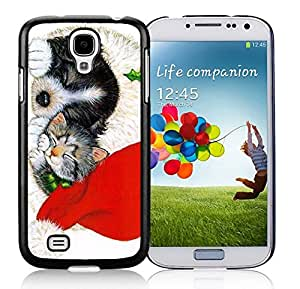 Recommend Design Christmas Black Dog And Cat Black TPU Protective Skin For Samsung I9500,Samsung Galaxy S4 by icecream design