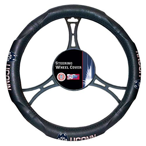 (Northwest COL 605 UConn Car NOR-1COL605000001WMT Connecticut Huskies NCAA Steering Wheel Cover, 14.5 to 15.5)