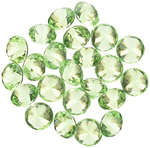 Homeford FPF0750433AG 240 Piece Acrylic Diamond Gemstone Table Scatter, 3/4, Apple Green (Apple Gem)