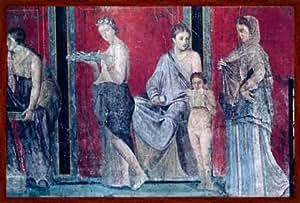 """Framed Picture 1. Jahrhundert V.Chr, """"Pompeii, Villa Dei Misteri /Fresco/C1 Bc"""", 108 X 71 - Wood Markant Dark Brown"""