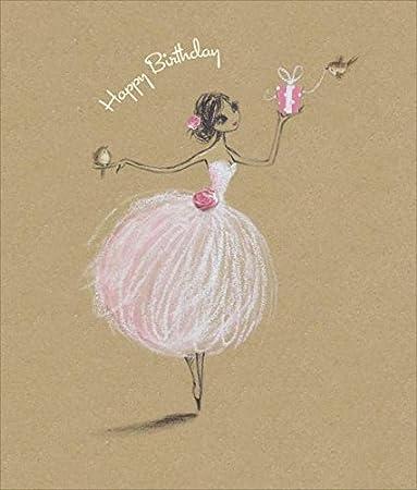 Amazon.com: Feliz cumpleaños (bailarina), tarjeta de ...