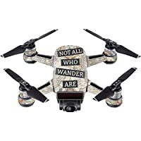 Skin For DJI Spark Mini – Who Wander | MightySkins Protective, Durable, and Unique Vinyl Decal wrap cover | Easy To Apply, Remove, and Change Styles | Made in the USA