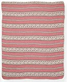 Green 3 433-120 Blanket-Throw Stripe
