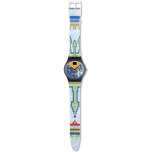 Swatch - Reloj Swatch - GN114 - Blue Flamingo - GN114: Amazon.es: Relojes