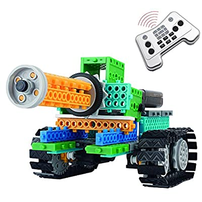 4 in 1 Remote Control Building Blocks, AMGlobal 237 Pcs Remote Control Building Kits, Remote Control Machine Educational Learning Robot KIts for Kids Children For Fun (237 Pcs)