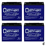 Mighty Max Battery 12V 18AH Gel Replacement Battery for YardWorks Lawn Mower - 4 Pack Brand Product