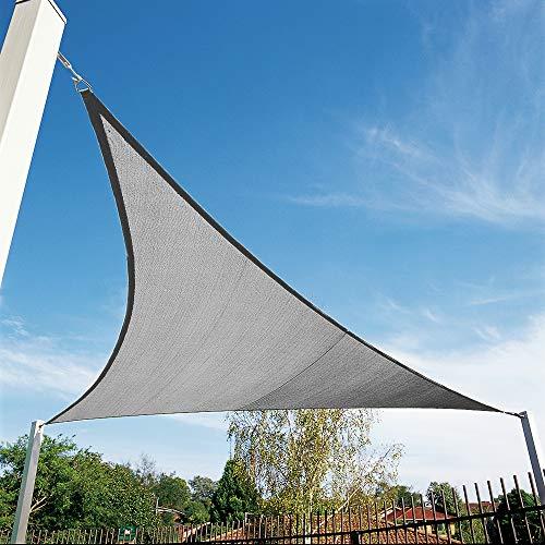 Shade&Beyond 12'x12'x12' Sun Shade Sail Triangle Canopy Grey Outdoor UV Sunshade Sail for Patio Yard Backyard Garden Lawn