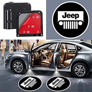 Car Door Led Projector Lights Shadow Ghost Light,Wireless Car Door Welcome Courtesy Lights Logo for All Car Models 2Pcs for Car Door Lights Logo for Jeep