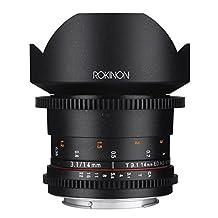 Rokinon DS14M-N Cine DS 14mm T3.1 ED AS IF UMC Full Frame Cine Wide Angle Lens for Nikon 14-14mm Fixed Lens for Nikon (FX) Cameras
