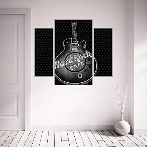 Zigimpession Wall Sticker Guitar Hard Rock Café Design Black PVC Vinyl Home Bedroom Wall Art Décor Decal Poster28 X 24 Inches (Hard Rock Cafe Sticker)