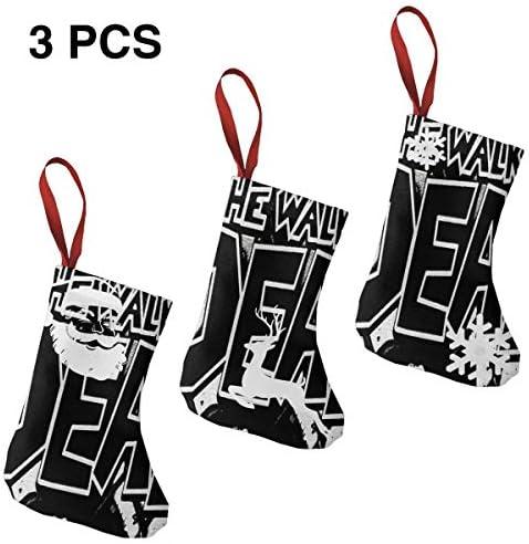 クリスマスの日の靴下 (ソックス3個)クリスマスデコレーションソックス 死んで歩くWalking Dead クリスマス、ハロウィン 家庭用、ショッピングモール用、お祝いの雰囲気を加える 人気を高める、販売、プロモーション、年次式