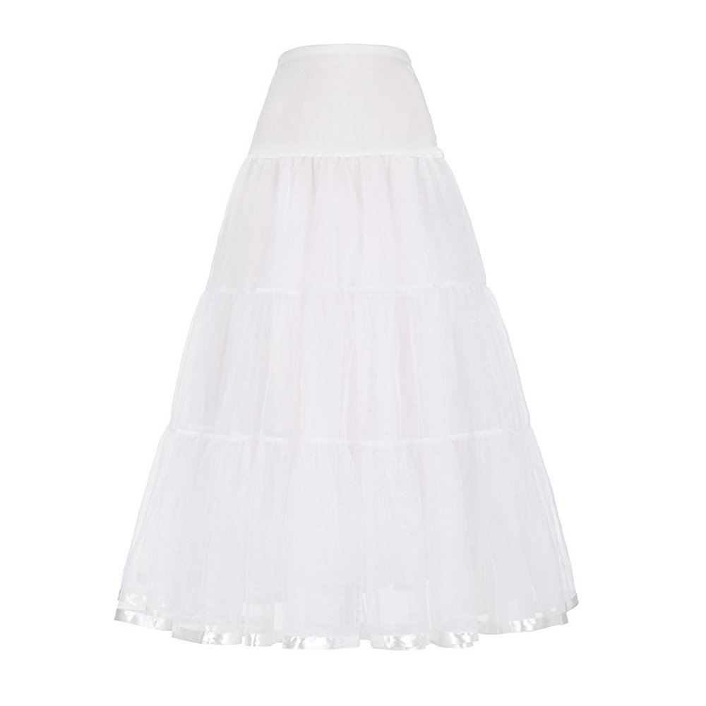 CJFashion Long Petticoat Skirt Plus Size Women Wedding Dress Underskirt Ankle Length CL010421