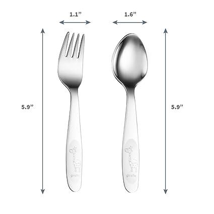 Amazon.com: Juego de 4 cucharas y tenedores de acero ...