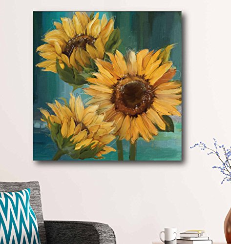 Courtside Market Farmhouse Sunflower Painting Print on Canvas Gallery Wrapped, Multi