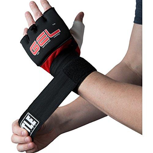 TITLE Gel Assault Glove Wraps, Regular