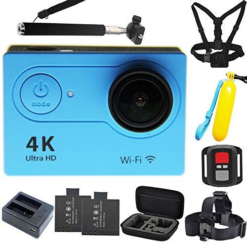 1080p H.264 30fps Full HD Waterproof Wi-Fi Sports Camera (Blue) - 7