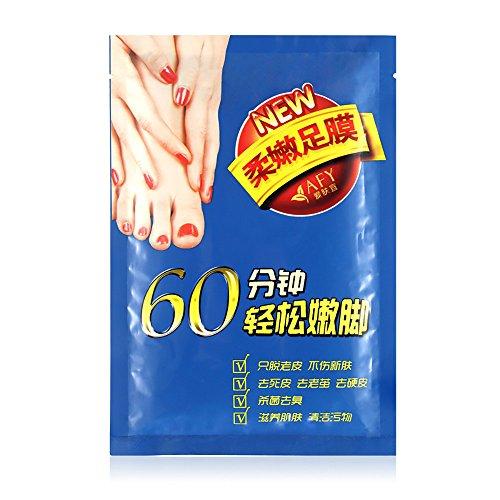 KXN Exfoliating Foot Peeling Mask - Peel Booties for Callus Dead Skin, Get Soft Touch Smooth Feet in 1 Week, Repair Rough Heels for Men Women