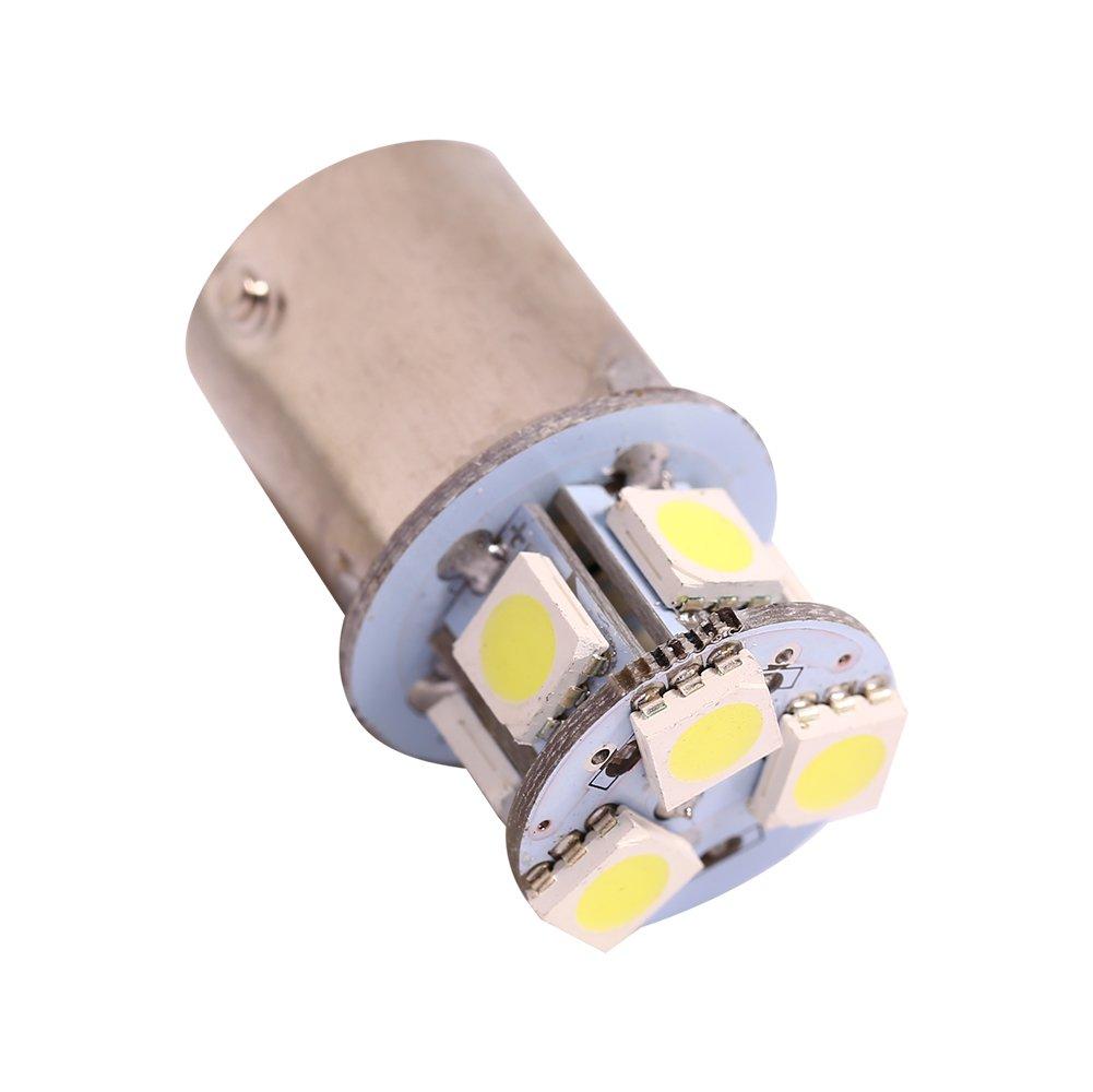 2 pcs Feu de Stationnement Keenso Feux de Freinage BA15S R5W 1156 5050-8SMD LED Ampoule de Frein pour Feu Stop Brillant Blanc LED Clignotant//Frein//Queue//Inverse