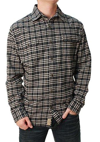 Jachs Men's Brawny Flannel Shirt (Medium, Hunter Green)