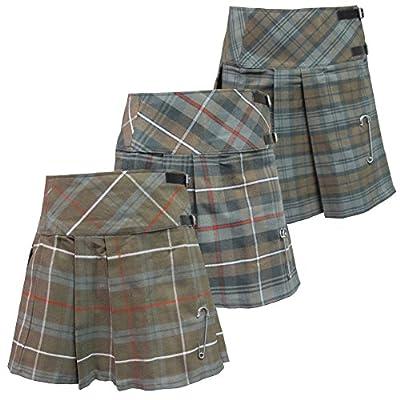 Tartanista Woman's Scottish Weathered Look Pleated Plaid 16.5 Inch Kilt