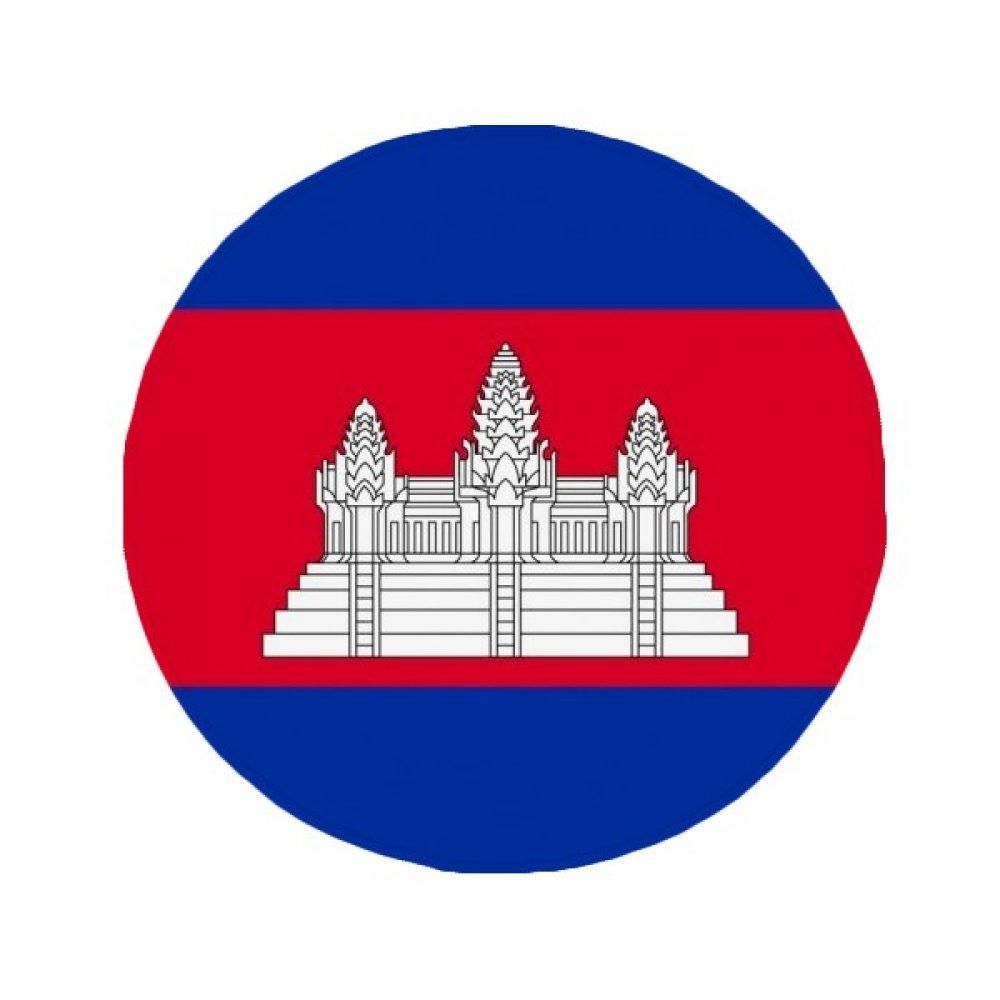60X60cm DIYthinker Cambodianational Flag Asia Country Anti-Slip Floor Pet Mat Round Bathroom Living Room Kitchen Door 60 50Cm Gift
