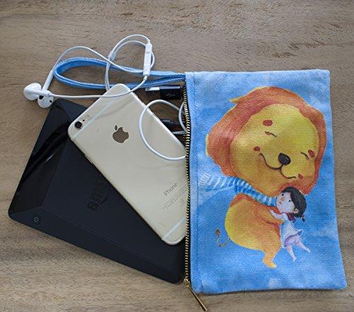 9cmZoo Braccialetto di Design Multifunzione Funzionale Borsa in Tela. Utilizzabile come porta telefono per iPhone, Portamatite, Beauty-case, Boras dei Trucchi, Borsetta o Pochette. Set da 2, 13 cm x 1