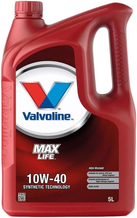 Valvoline Motoröl Motorenöl Motor Motoren Öl Motor Engine Oil Benzin Diesel 10w 40 Maxlife 5l Auto