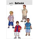 Butterick Patterns b3475Taille 2–3-4–5pour garçon/homme, Lot de 1, Blanc