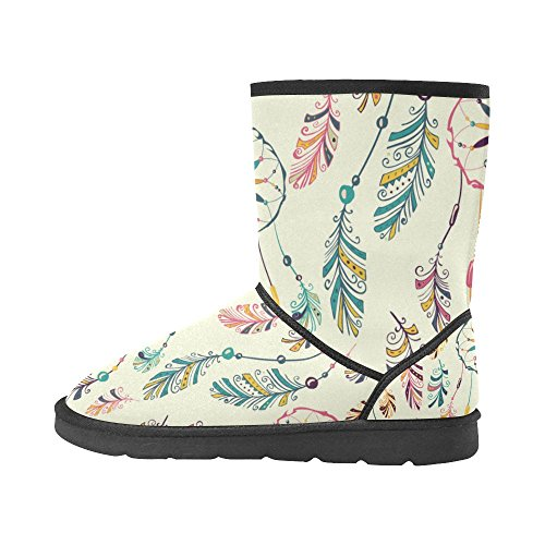 Print Size 12 Ethnic 5 Floral Circles Boots Doodle Tribal Ladies 5 Classic Womens Pattern Color11 colorful Snow InterestPrint axwUXgO0qU