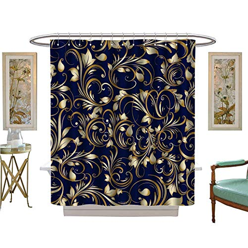 luvoluxhome Shower Curtains Sets Bathroom Paisley Vector Background Wallpaper with Vintage Bathroom Decor Sets with Hooks W36 x L72