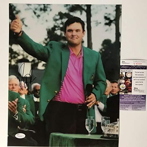Autographed/Signed Patrick Reed 2018 Masters Champion PGA Tour Golf 11x14 Photo JSA COA #1 (Autograph Photo Golf 8x10 Certified)