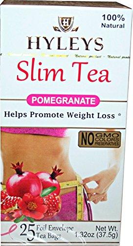 Hyleys Slim Tea Pomegranate 1 32 Oz 25 Teabags Buy Online In