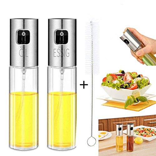 Oil Dispenser -Portable Oil Bottle,Olive Oil Sprayer with Scale Glass Oil Bottle, for Outdoor BBQ/Travel Cooking/Daily Kitchen Using (100ml)