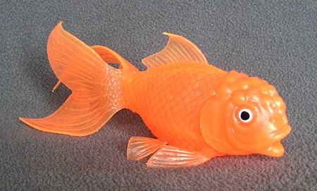 Goldfish Squirting Toy translucent day-glo fantail goldfish 7-inch plastic - F841 B37