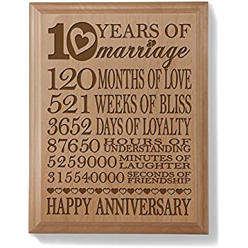 happy anniversary plaque