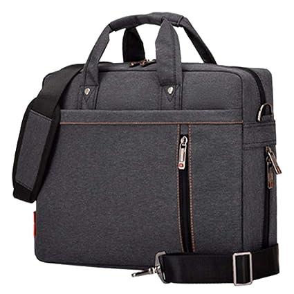 WULIFANG Bolsa para Ordenador Portátil De 17 Pulgadas Airbag Antichoque Impermeable Bolsa De Ordenador para Hombres