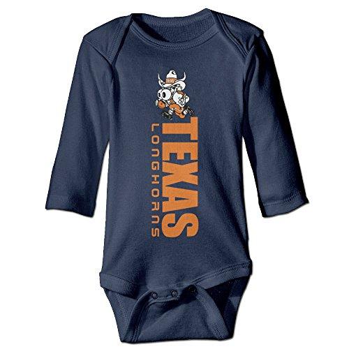 Boxer98 Babys Texas Longhorns College Long Sleeve Bodysuit - Austin Boots Allens